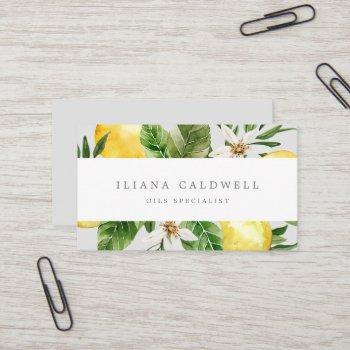 modern lemon garden | gray business card