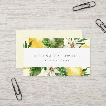 modern lemon garden | yellow business card