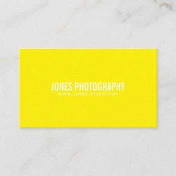 modern lines yellow business card