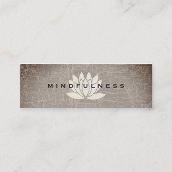 modern lotus flower marbled texture mini business card