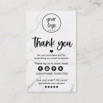 modern marble business thank you for order insert