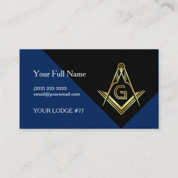 modern masonic business cards, custom freemasonry business card