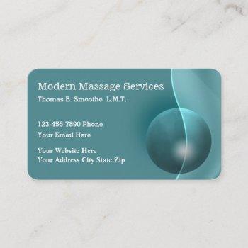 modern massage services businesscards business card