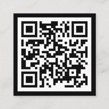 modern minimal black template qr code social media square business card