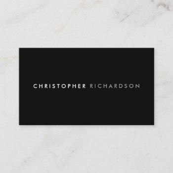 modern & minimal black/white business card