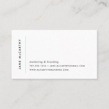 modern minimal business cards | aqua