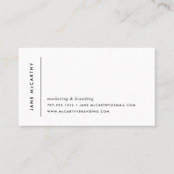 modern minimal business cards | grey