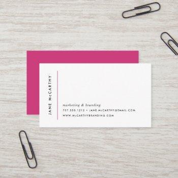 modern minimal business cards | magenta