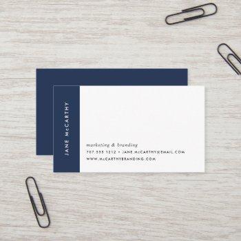 modern minimal business cards | navy