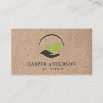 modern minimal green eco professional logo business card