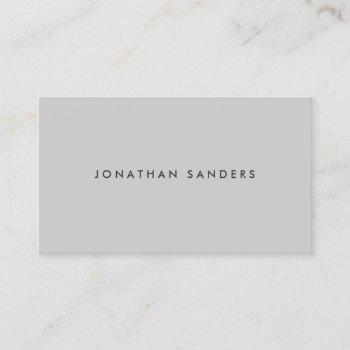 modern & minimal light gray business card