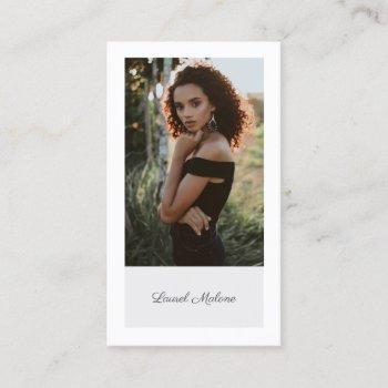 modern minimalist actor model social media business card
