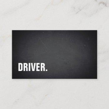 modern minimalist blackboard driver professional business card