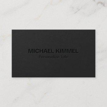 modern minimalist bold black 3 business card