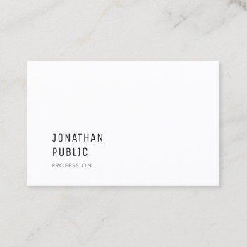 modern minimalist classy professional template business card