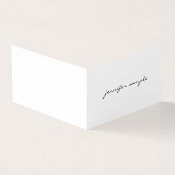 modern minimalist elegant simple professional chic business card