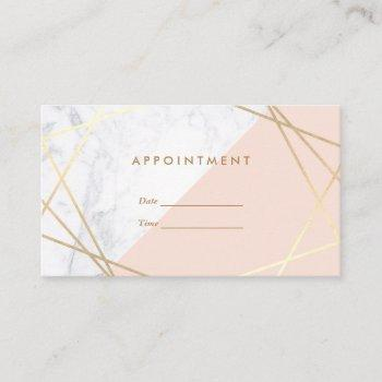 modern minimalist geometric marble appointment business card