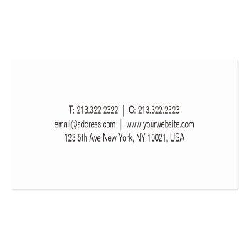 Small Modern Minimalist Glam Creative Clean Template Top Mini Business Card Back View