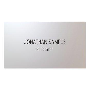 Small Modern Minimalist Glam Creative Clean Template Top Mini Business Card Front View