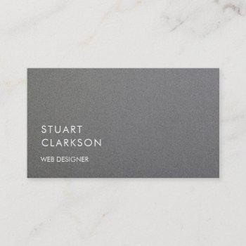 modern minimalist gray brushed metal professional business card