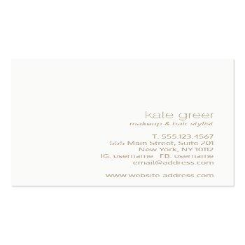 Small Modern Minimalist Light Pink Beauty Square Square Business Card Back View