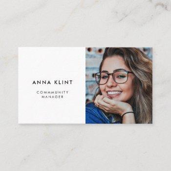 modern minimalist photo business card