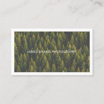 modern minimalist photography business card