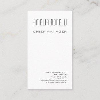 modern minimalist professional plain standard size business card