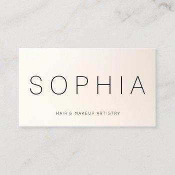 modern minimalist professional satin ivory business card