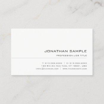 modern minimalist professional template elegant business card