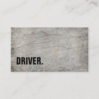 modern minimalist wood board driver professional business card
