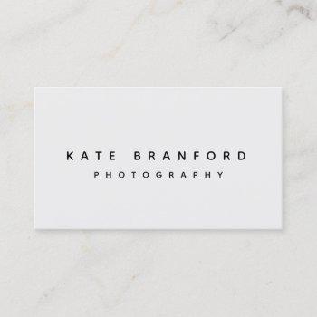 modern minimalistic gray professional business card