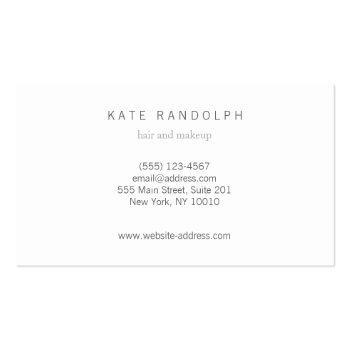 Small Modern Minimalistic Professional Luminous Silver Business Card Back View