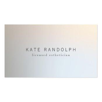 Small Modern Minimalistic Professional Luminous Silver Business Card Front View