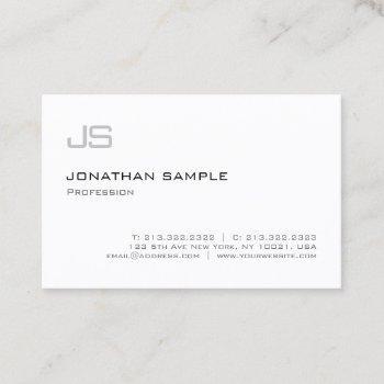 modern monogram minimalist professional plain business card
