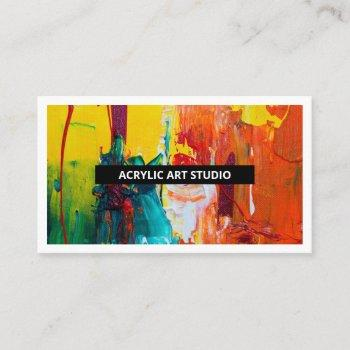 modern name artwork artist art studio business card