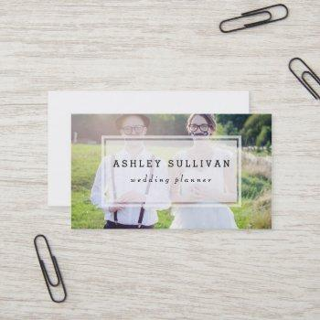 modern photo overlay | wedding business card