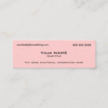 modern pink qr code mini business card