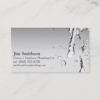 modern plumbing business cards