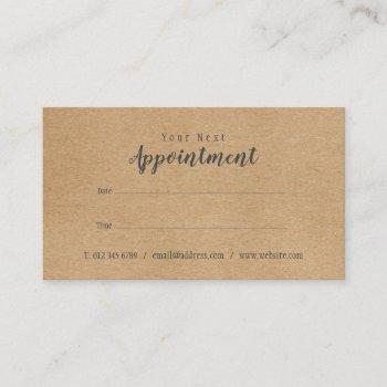 modern professional appointment reminder card