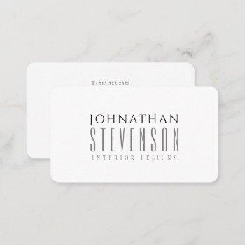 modern professional black and white business card