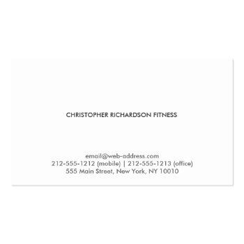 Small Modern Professional Black Business Card Back View