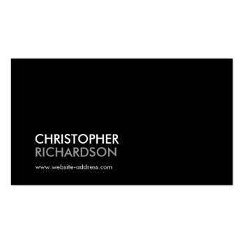 Small Modern Professional Black Business Card Front View