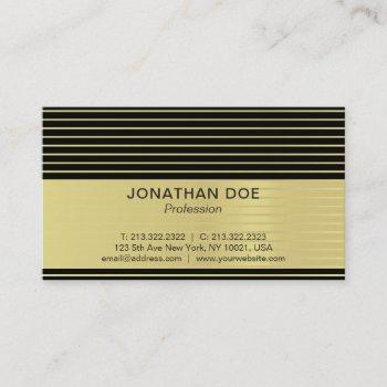 modern professional creative black and gold luxe business card