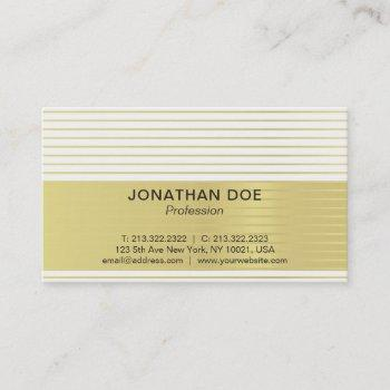 modern professional creative gold striped luxe business card