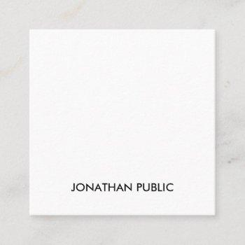 modern professional creative sleek template luxury square business card