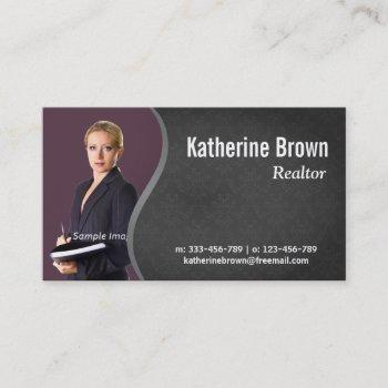 modern, professional, damask, real estate, photo business card