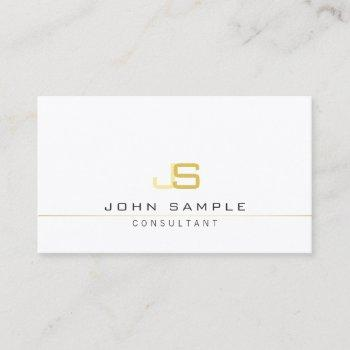 modern professional monogram elegant template business card