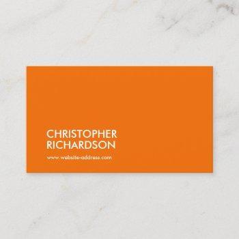modern professional orange business card
