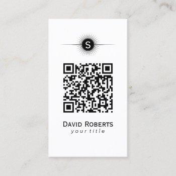 modern qr code simple plain business card